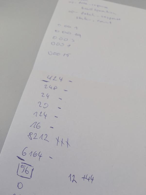 Bytes on paper