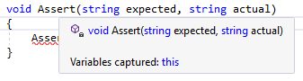 Captured variables in local function