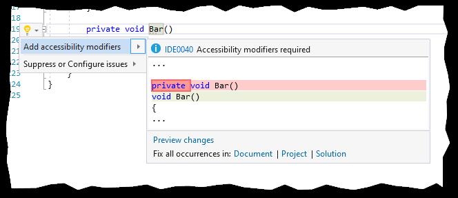 Add accessibility modifiers